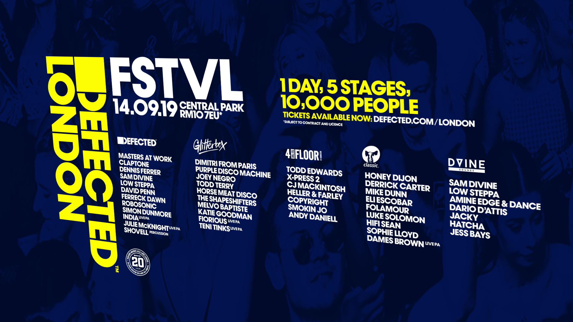 Defected London FSTVL stage splits