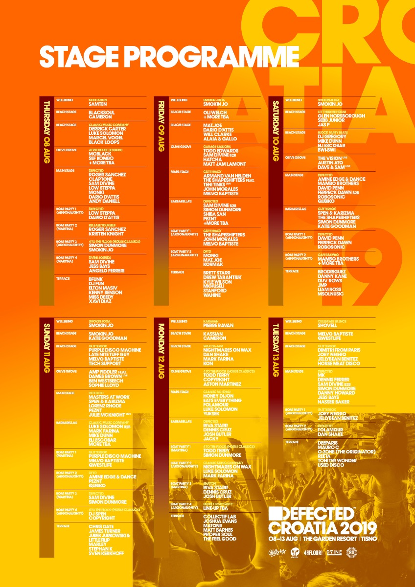 Defected Croatia 2019 programme